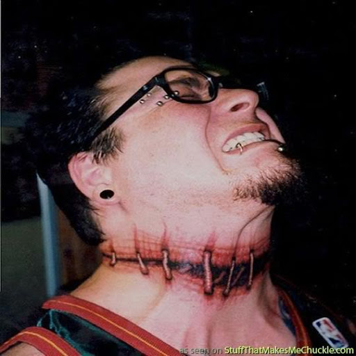 men neck tattoos designs