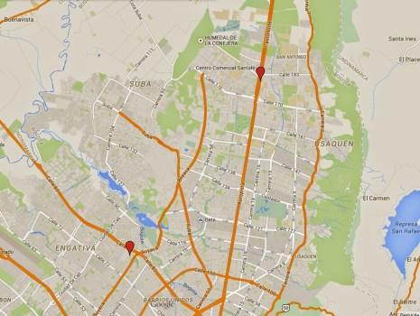 Mapa puntos de encuentro