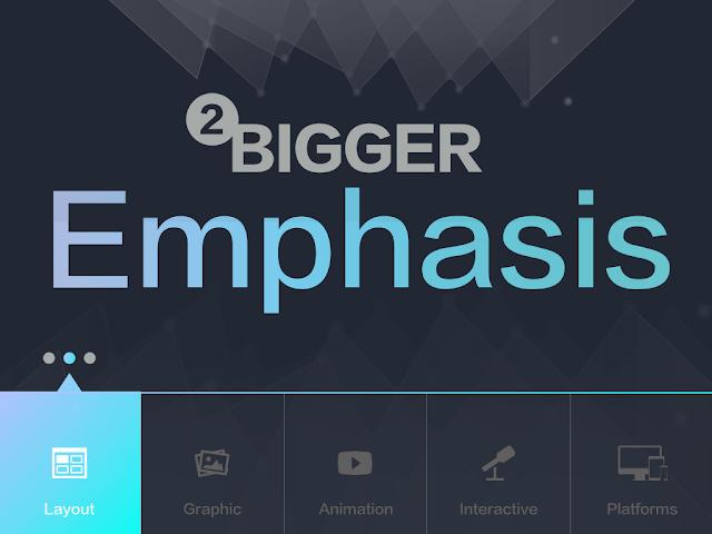 簡報設計: 大字型、大字題、大標題、大重點