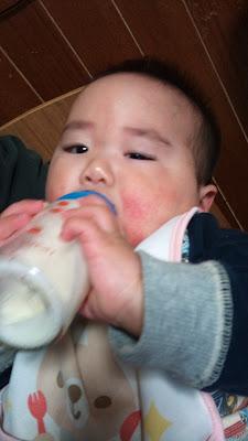 食後のミルクが欠かせません