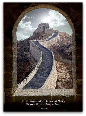 Great Wall Of China Lao Tzu Journey Of A Thousand Miles Poster Art Print 24X36 EBay