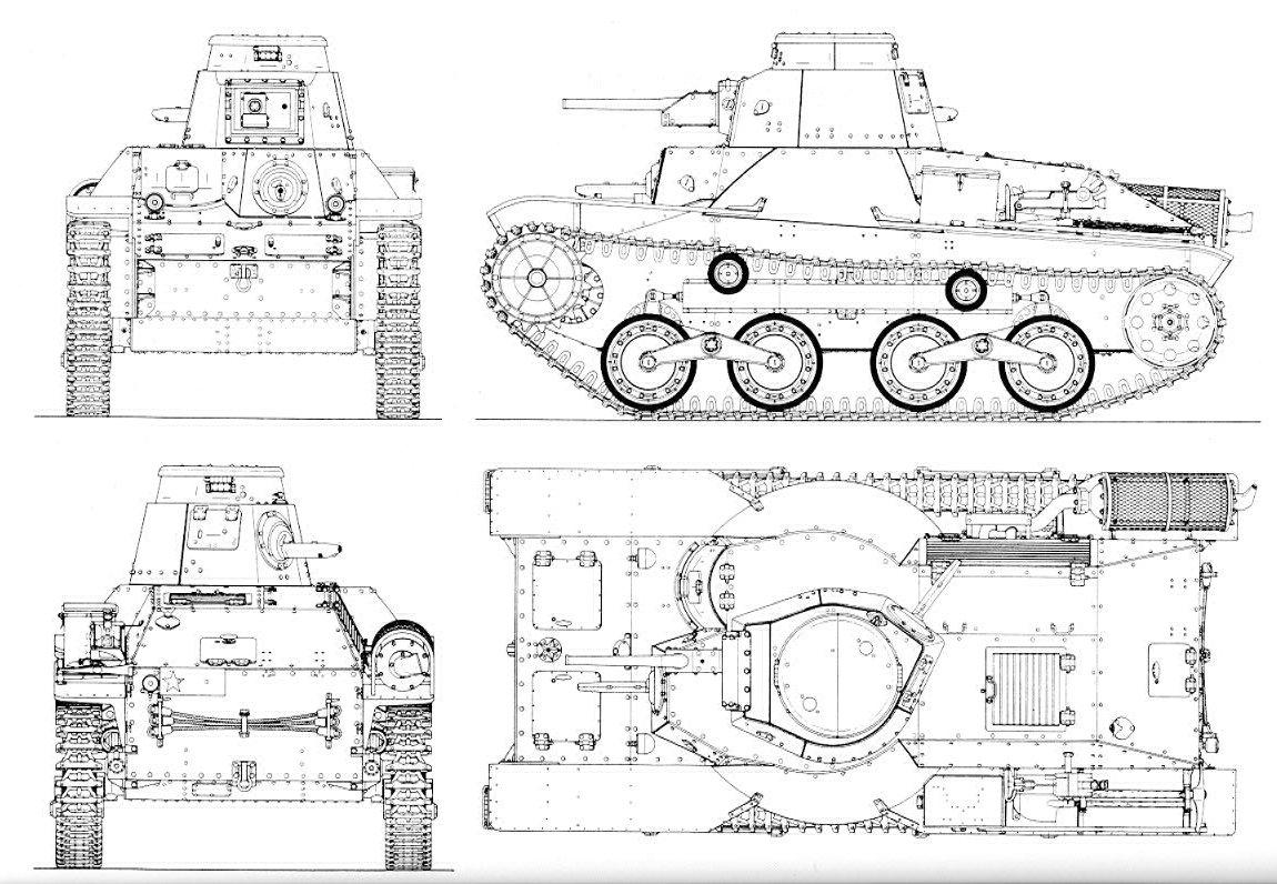 Guerra Abierta Carros Japoneses Tipo 95 Ha Go