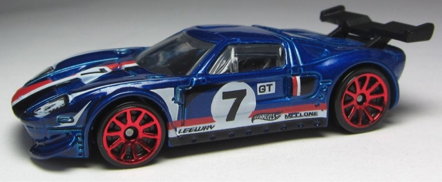 Hot Wheels Ford Gt Lm  In Orange And Recolored In Blue