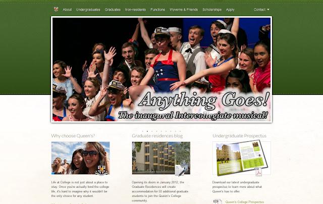 *排版及內容豐富的學院官方網站 Queen's College Web Site 2