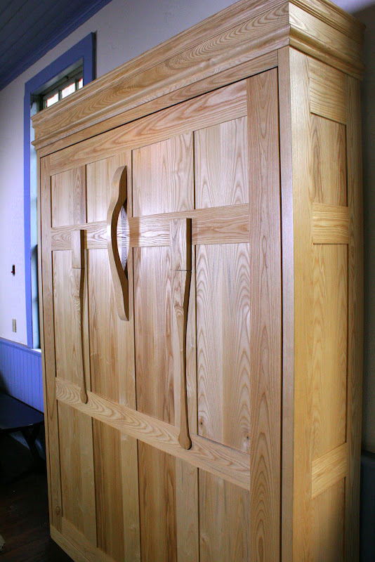 handcrafted Ash Murphy Bed