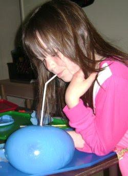 gak blows bubbles