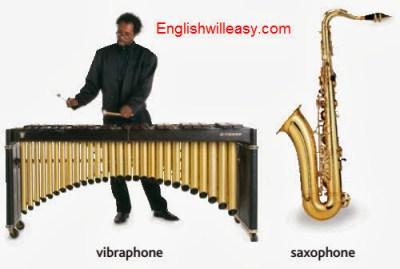 vibráfono, saxofón