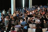 La Orquesta Sinfónica de Juventudes Francisco de Miranda y la Orquesta Sinfónica Regional Vicente Emilio Sojo acompañaron a los aprendices en la práctica
