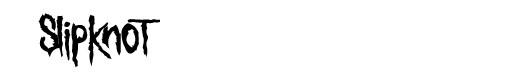 Sickness font logo Slipknot