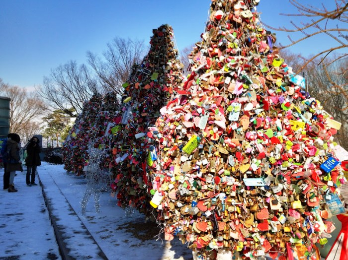 Quirky Seoul, Love of Locks at Namsan Tower