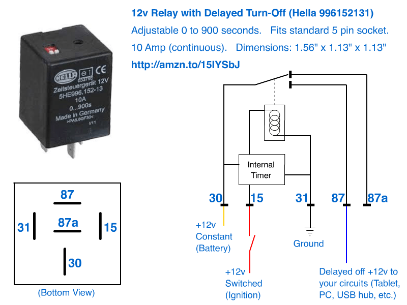 12v Delayed Turn-off Or Turn-off (howto