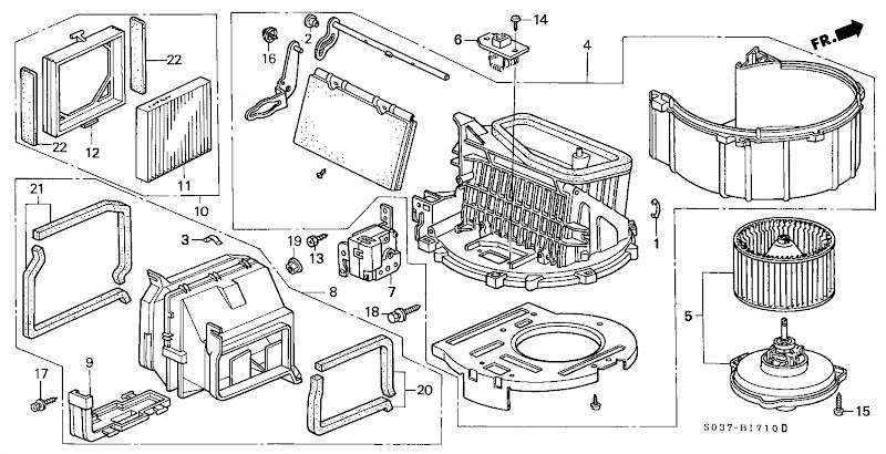 Honda Civic Interior Parts Diagram