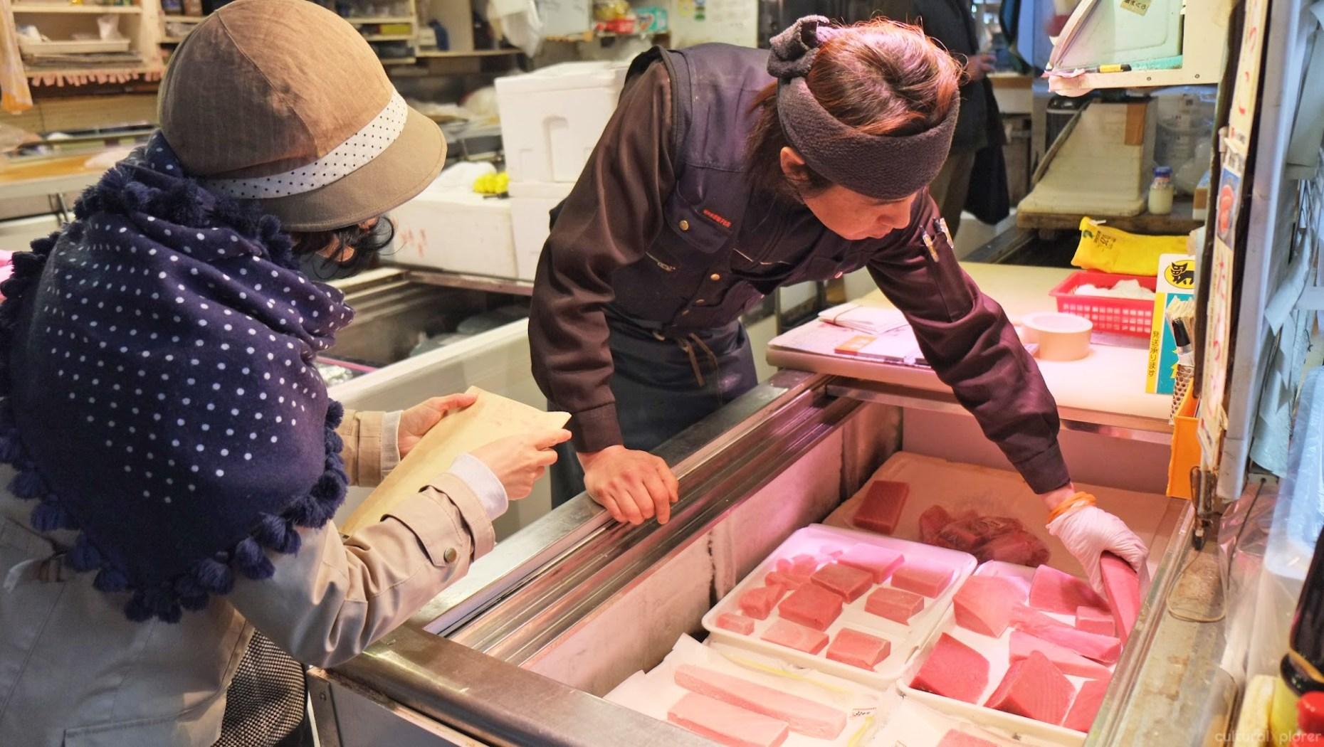 Buying tuna Tsukiji Market