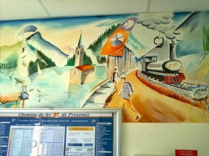 Entrevaux station mural