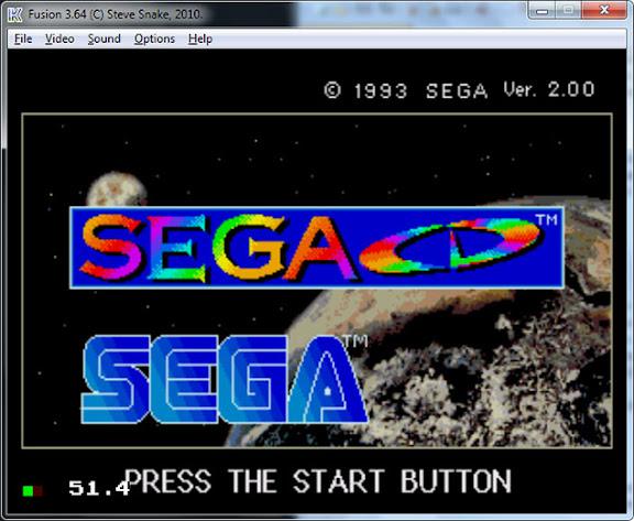 Emulador Fusion com boot do SEGA CD americano / nacional