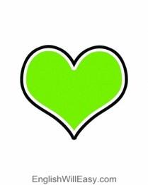 کارت تصویر برای کودکان- شکل- قلب