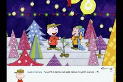 Scene from Loud Crow's A Charlie Brown Christmas App