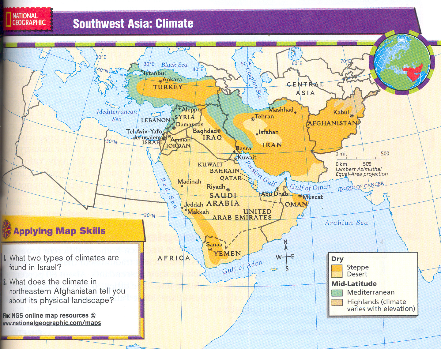 We Study The World Africa And Southwest Asia Maps