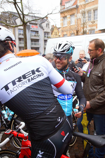 Gert Steegmans en Marc Cavendish