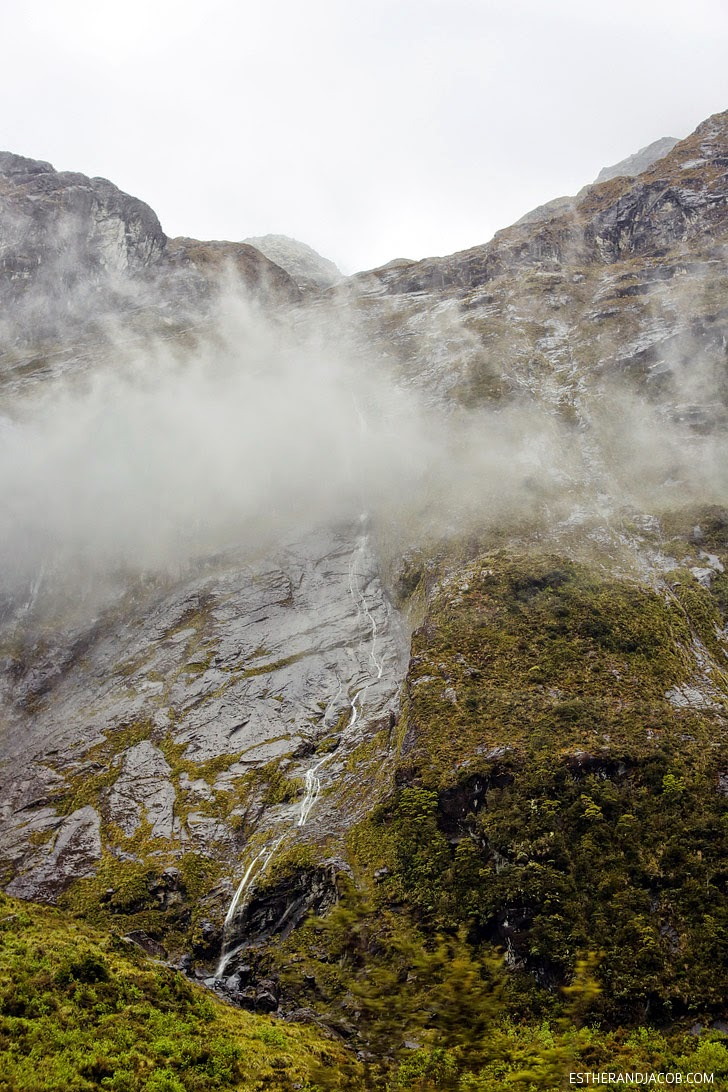 Valley of a thousand Waterfalls Fiordland National Park New Zealand.