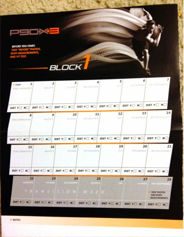 P90x3 Worksheets And Calendar Happy Running Mom