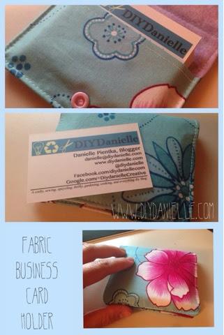 DIY Fabric Business Card Case