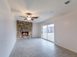 home for sale in Phoenix AZ family room fireplace