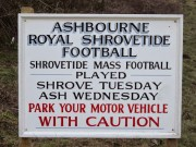Ashbourne Shrovetide Sign