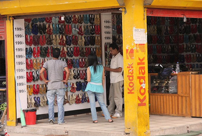 Shop of slippers