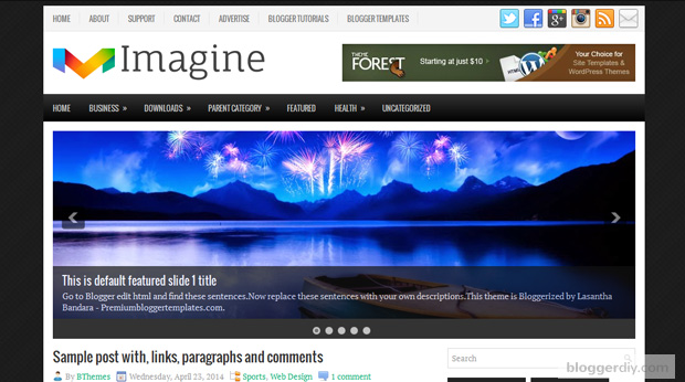 Imagine Blogger template