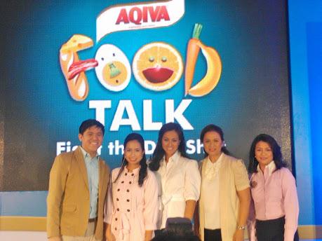 AQIVA Food Talk (from L to R - Carlo De La Paz, Chef Laudico, Mikee Conjuanco- Jaworski, Dr. Benitez, Ms. Callante