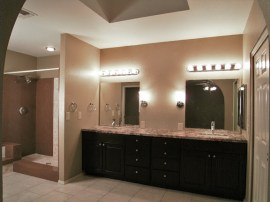 Master bath cabinets, vanities, granite counter tops, linen closet, etc.. (total cost of approx. $23,500) offered by Sun Lakes AZ Realtors