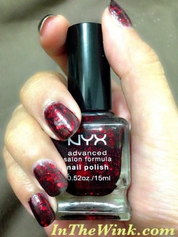 NYX Advanced Salon Formula Nail Polish in NPS 217 Dark Glitter