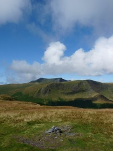 Souther Fell Summit with Blencathra and Bannerdale Crags