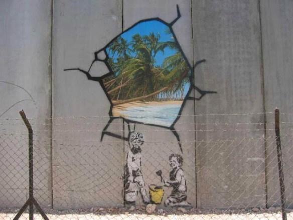 59 Rivoli. Graffiti Banksy en Palestina
