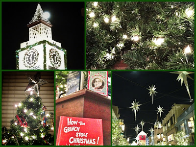 Holiday scenes from The Grove/Farmers Market and my house--collage made with PicFrame