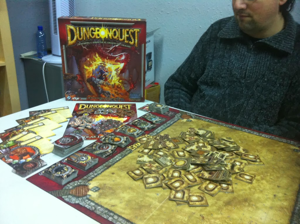 Dungeon Quest, dungeonquest, juegos de mesa, review, fantasia, hobbit, tesoro, dragon, fantasy flight retrogamming, tablero, zona de juego, Crying Grumpies
