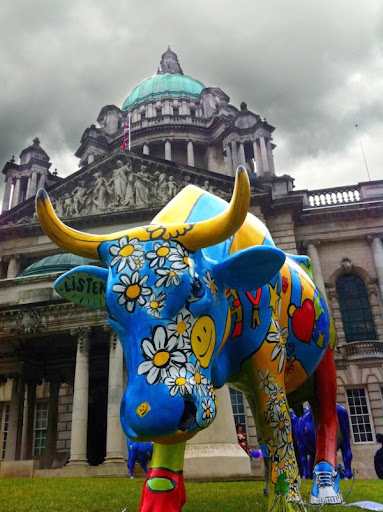 Oliver chose some of his favourite photos from his collection for Coalisland Post, including this snap of the CowParade public art event outside Belfast City Hall
