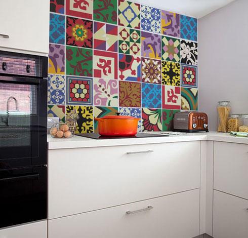 Adhesivos para baldosas como si fueran los 60 - Vinilos cocina azulejos ...