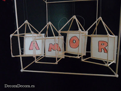 Idea para decorar en San Valentín.