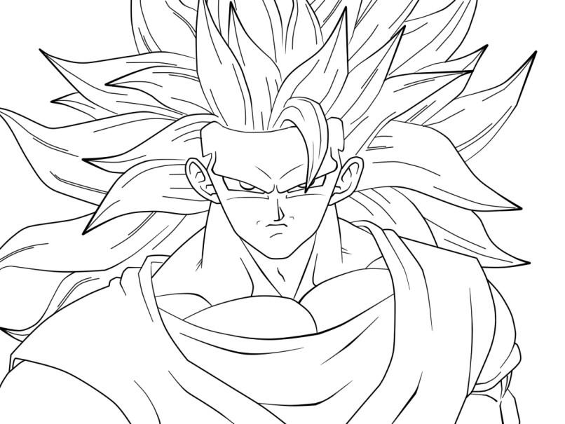 Imagenes De Dragon Ball Z Para Colorear Goku En Fase 5
