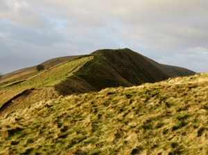 Looking Over To Rushup Edge