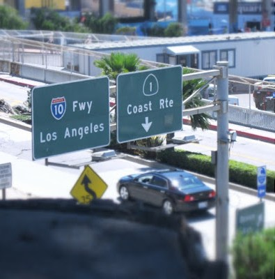 Highway signs over PCH, Santa Monica