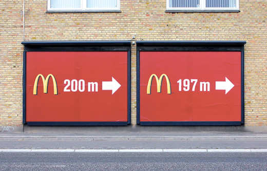 Publicidad Creativa: McDonald's: Billboards 200m-197m