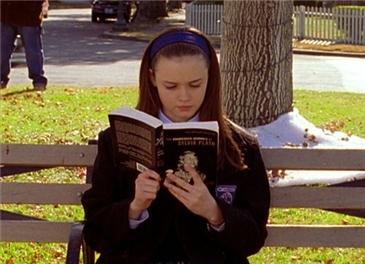 Rory Gilmore reading Sylvia Plath