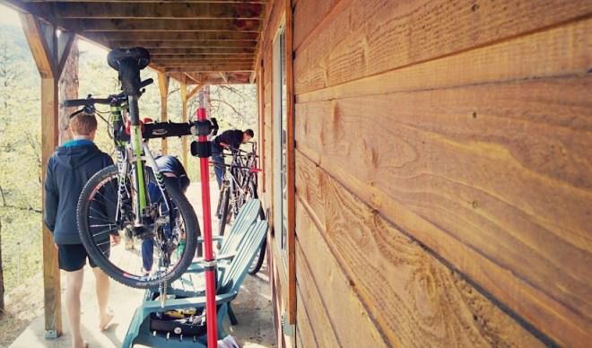 Bike prep before the big show on Sunday
