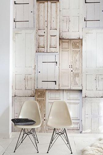 Papel pintado para decorar paredes vintage.