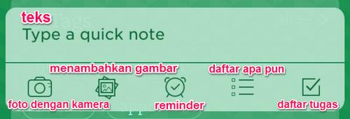 Quick Note, Cara Cepat Membuat Catatan