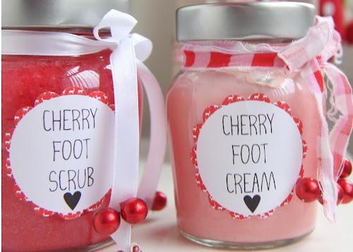 DIY Cherry Foot Scrub and Foot Cream Gift Idea