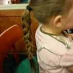 I tried braiding my eldest daughter's hair